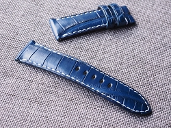 24mm Dark Blue Alligator Strap  24/22 75/115- Ready to ship (3)